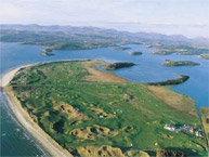 Donegal Golf Club - Darren Clark proclaims this to be his favorite course in the world and with good reason.  Ranked by Golf World Magazine as one of the 100 best courses in the world you must play, the excellence of Donegal can be measured by the yard.  The course literally juts out into the sea to the point where one is surrounded on almost all sides by water.  Rolling fairways, ample bunkers and holes with names like Wee Dunt, Foster's Castle and our personal favorite Bogey Hill give the first time an idea of what their up against.  Afterwards you can commiserate, settle up and sit back in a fine well appointed clubhouse worthy of members visiting from the finest private clubs.
