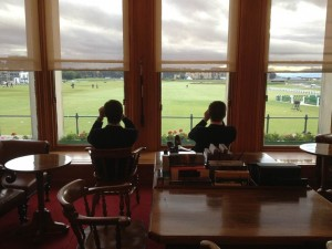 Inside R&A Clubhouse